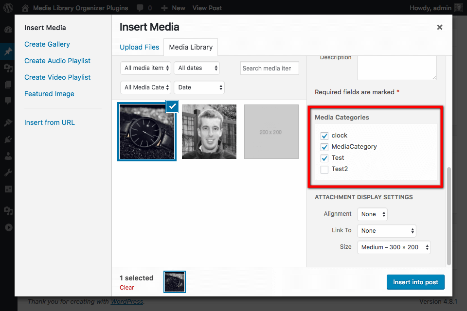 Assigning Media Categories: Assign Media Categories