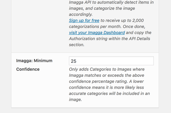Auto Categorization: Confidence Settings