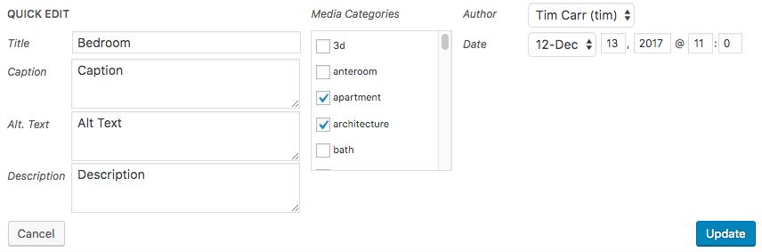 Quick Edit: List: Form
