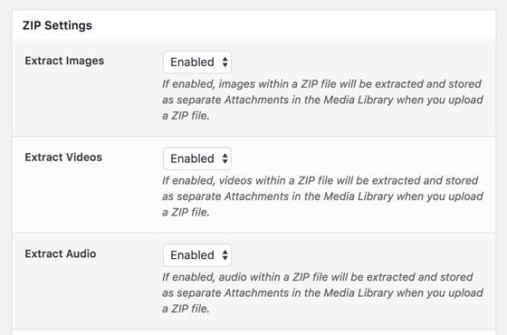ZIP Addon: Define File Types