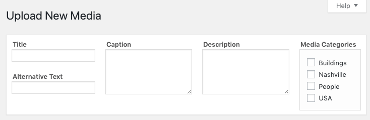 Media Library Organizer: Define Metadata and Categories on Upload Form