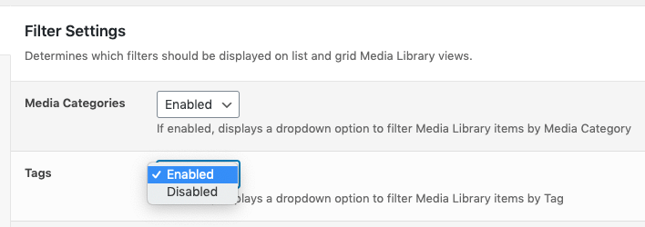 Media Library Organizer Pro: Taxonomy Manager: Filters