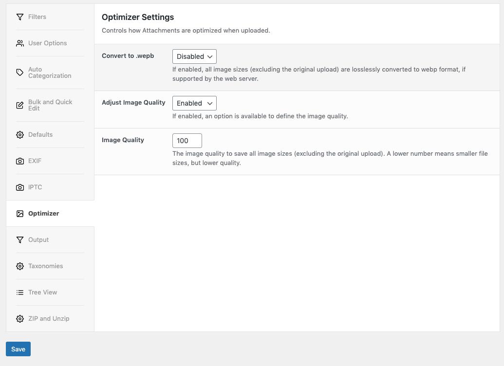 Media Library Organizer Pro: Optimizer: Setup
